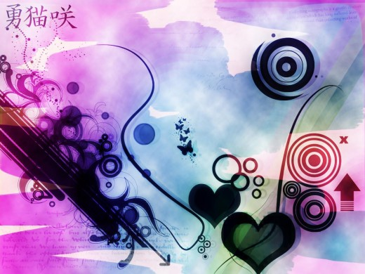 hearts and symbols
