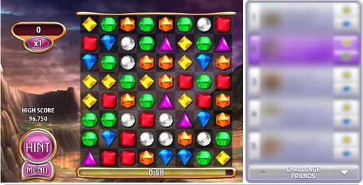 Bejeweled Blitz on Facebook
