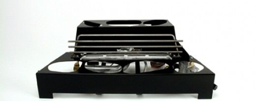 Ventless gas log burners are designed to hold ceramic in place and cannot be altered.