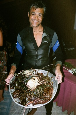 Shankar Aswani after a successful lobster dive
