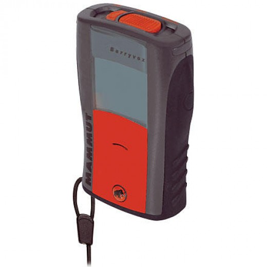 This is a typical modern avalanche beacon that can be used in transmit or search mode