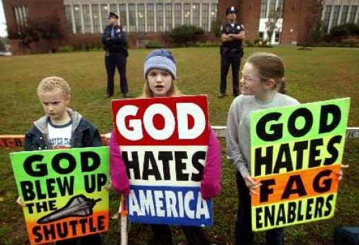 Westboro Baptist Church Pickets at Military Funeral