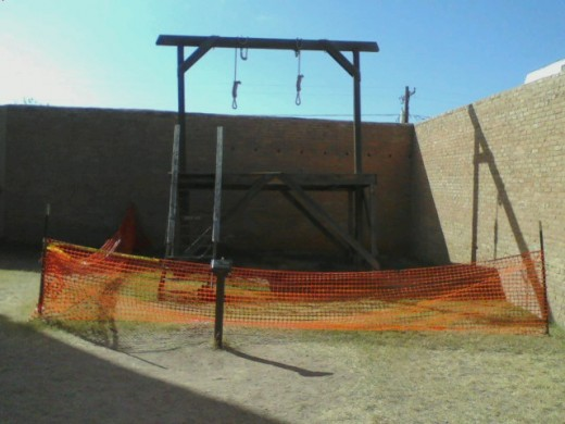 This is The Tombstone Gallows where seven men lost their lives, before the gallows was outlawed.