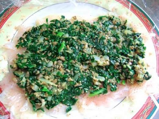 Fish Roulade wih Garlic and Parsley Pesto