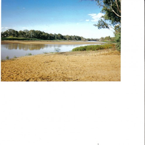The Balonne River in severe drought