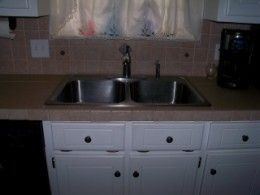Extra deep stainless steele sink