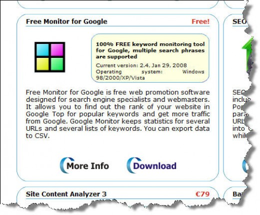 Free Monitor for Google allows you to find the page your site appears on, for any search phrase