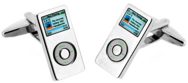 Ipod Cuff Links for a Techie Guy?