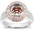 Adiamor Bezel Set Engagement Ring