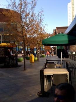 A view down Sixteenth Street Mall.