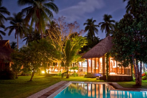 Luxurious Tropical Garden Resort At Night