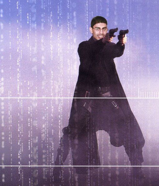 Azza gets the Matrix treatment.