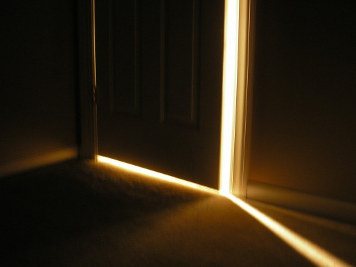 You see the light of freedom, but are you ready to walk through that door yet?  (Photo by David Schauer)