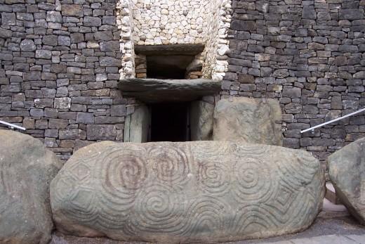 Tri-spiral Designs on Entrance Stone