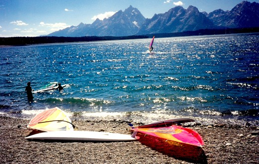 Windsurfing on Jackson Lake