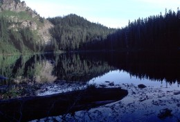 Mirror Lake, just south of Snoqualmie Pass.