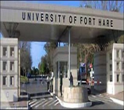 Fott Hare University, South Africa which Apartheid changed to a Xhosa people only College
