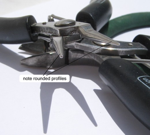 Round nose pliers profile