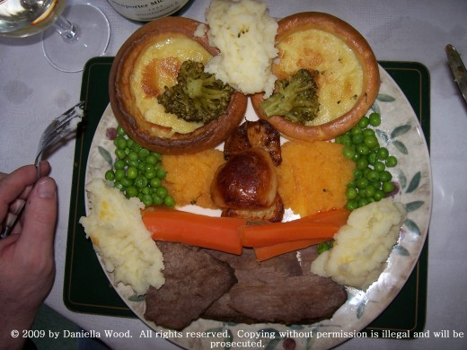 Sunday dinner (with yorkshire puddings, of course!)
