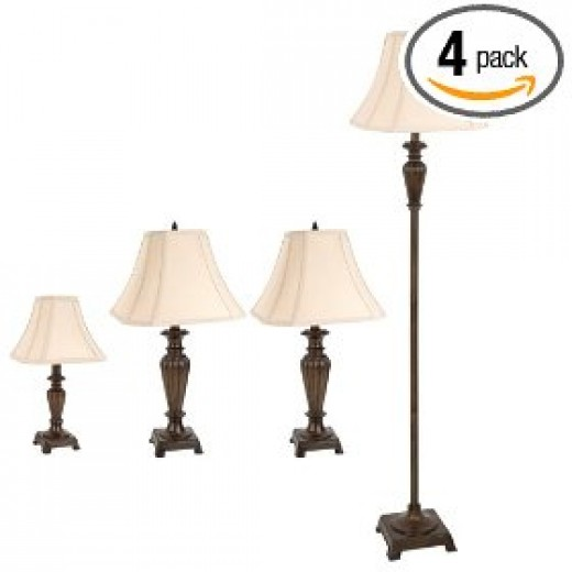4 pack antique lamps