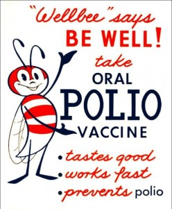 The 1963 CDC polio poster and its Well Bee (for well being).