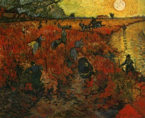 Van Gogh Painting: Red Grape Hill - In case you were wondering, which was the only painting Van Gogh could sell in his life.