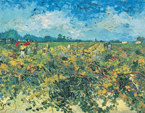 Van Gogh Painting: Green Grape Hill - This is so bad, Van Gogh couldn't find a buyer.