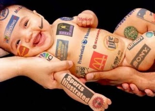 The Corporation Baby: Multicorporations have a long term investment on our children from when they are born, become small kids, teenagers, adults, old men/women till they pass- the corporation has them hooked up to the hilt in their life.