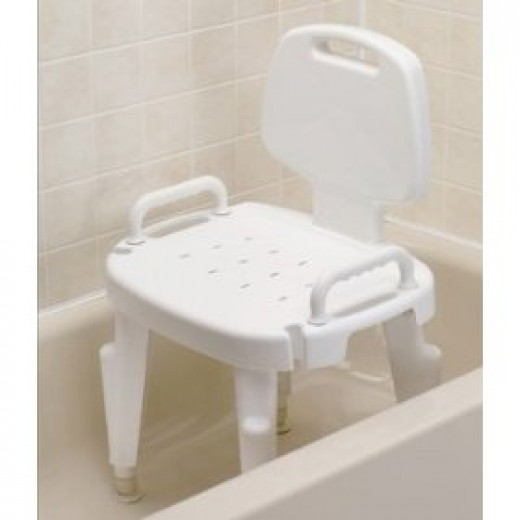 White shower chair with arms from Ableware
