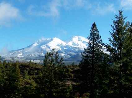 Mount Shasta is majestic. From I-5 in California. by Lindsay S Godfree