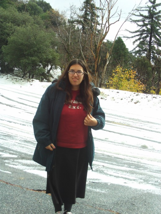 Picture of me in the snow.
