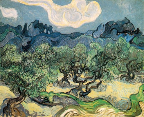 Van Gogh Painting: Olive Trees with the Hills of Alpille in the Background (5)
