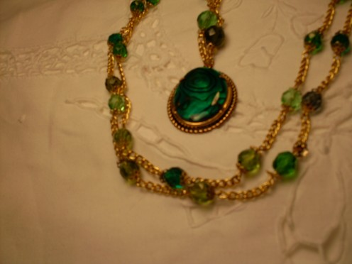 Green Paua Shell Rope Necklace