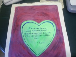 I Painted This Heart When I Was In a Romantic Mood.  The Heart Poem is by Moore.