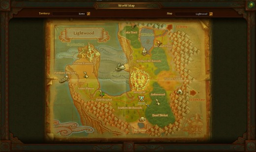 Here's what the map looks like. I didn't have too many quests when I took this screenshot but you'll notice that quest objectives are already laid out.