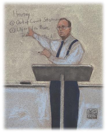 Illustration of Law School instruction