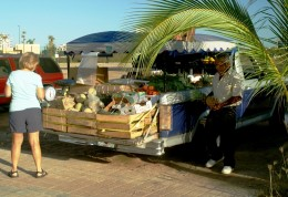 The morning veggie market - Marina Mazatlan - Pacific Coast of Mexico