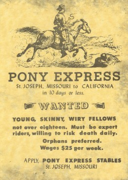Pony Express Ad