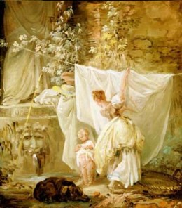 """""""Laundress and Child"""" 1761 (My mothers favorite)"""