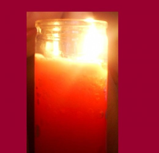 Candles create soft and beautiful light.