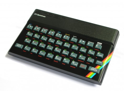 Classy rainbow adorns the ZX Spectrum