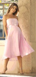 Audrey Formal Maternity Gown in Pink, $290.00, bellablumaternity.com.      Photo credit, bellablumaternity.com