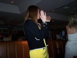 sharon dancing celebrating