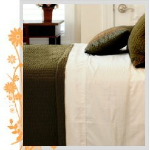 Pure Fiber white bed sheets