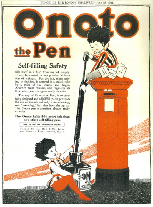 Peter Pen advertisement from Punch magazine, 1921