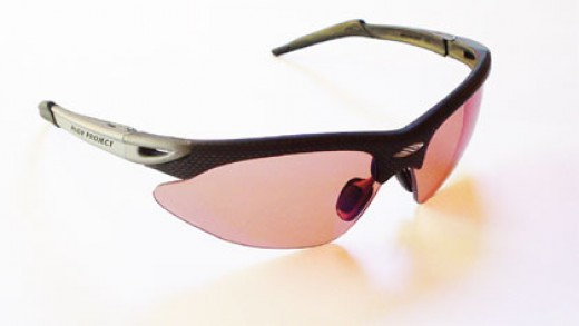These are the Sunglasses I use for Cycling.  I love the light weight, interchangeable lenses, and wrap around design to cut the wind and keep debris out of my eyes.