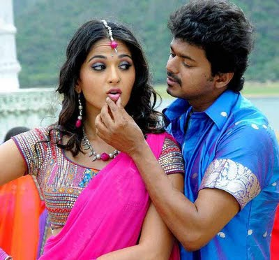 Vijay and Anushka in Vettaikaran