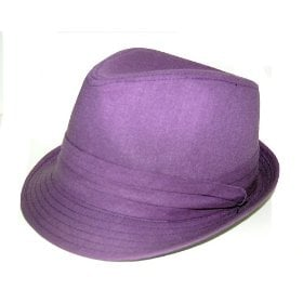 Purple fedora hat for women