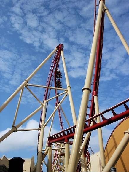 Universal Studios rip ride rockit roller coaster pictures