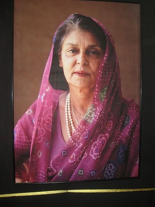 Maharani Gayatri Devi in old age